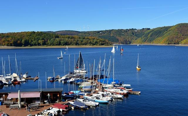 Rurtalsperre, Schwammenauel, Eifel, Lake, Water