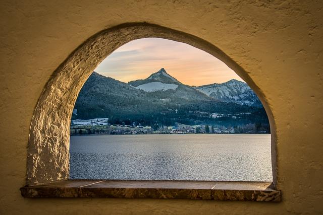 Arch, Window, Lake, View, Lake View, Mountain View