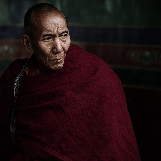 Old Man, Monk, Tibetan, Lama, Teacher, Old, Elderly