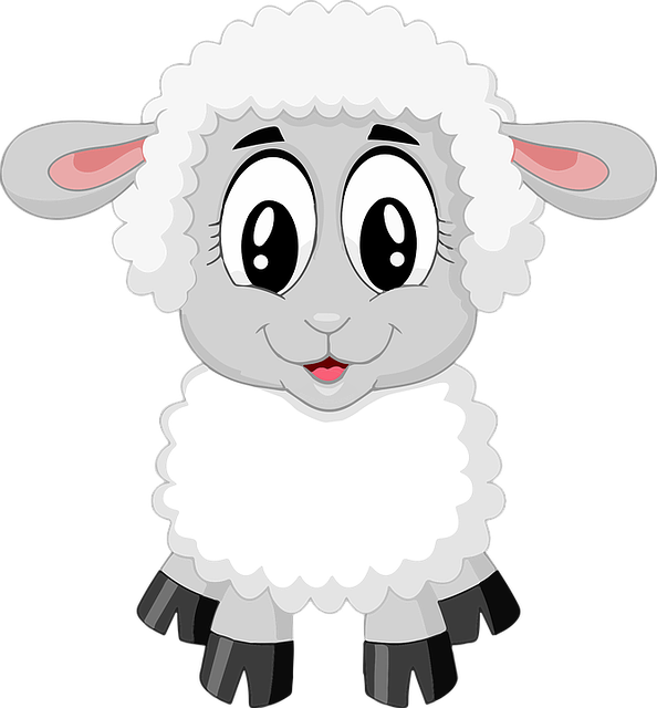 Lamb, Sheep, Cute, Farm, Animal, Baby, Cartoon