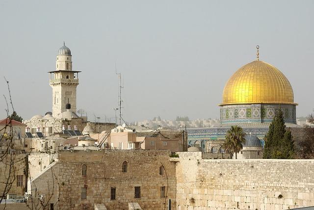 Israel, Palestine, Wall, Lamentations, Dome, Rock