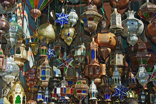 Marrakech, Souk, Market, Lamp