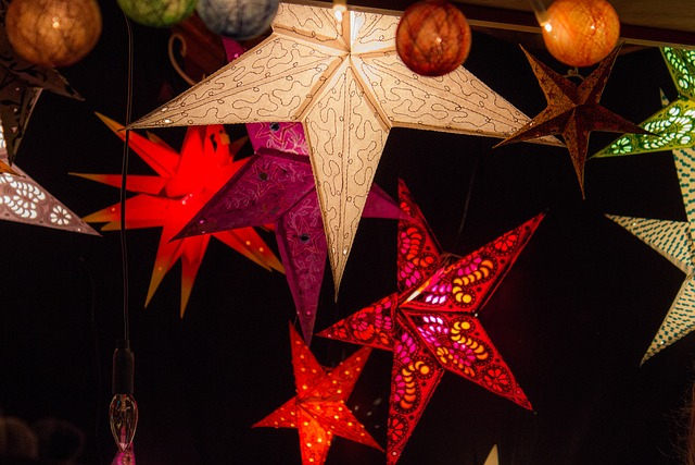 Christmas Market, Lamps, Lighting, Christmas, Light