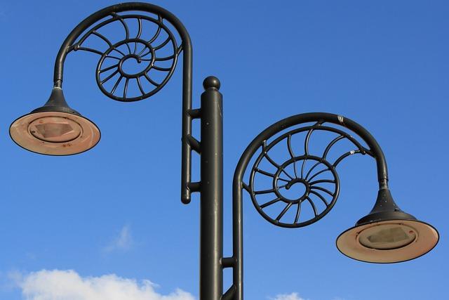 Lyme Regis, Lamps, Design, Streetlight, Blue Design