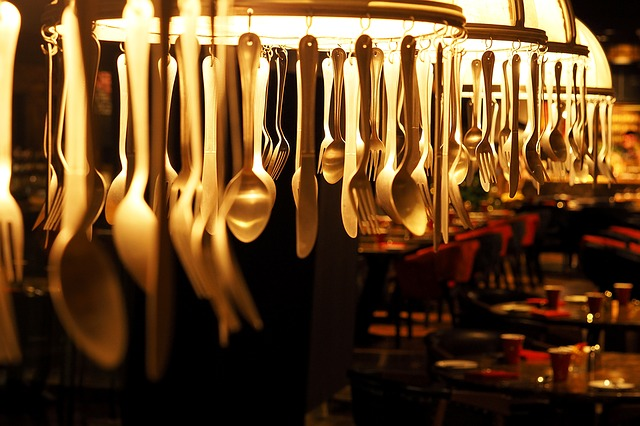 Lamps Utensils, Spoon, Fork, Hanging, Decorate