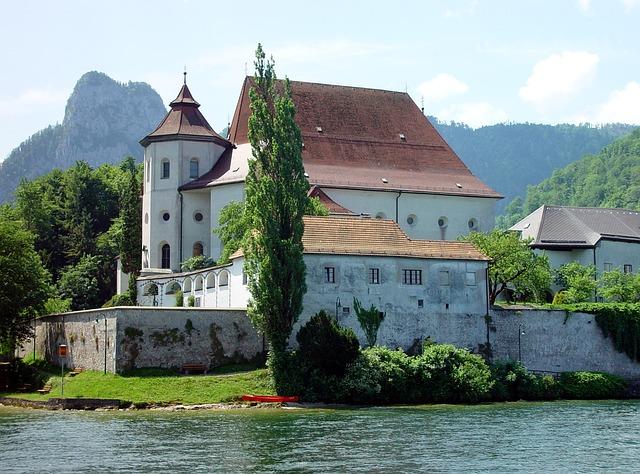 Traunsee, Traunkirchen, Traunkirche, Austria, Landmark