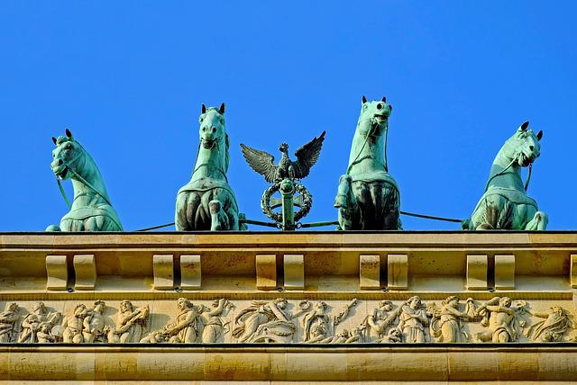 Brandenburg Gate, Berlin, Landmark, Goal, Quadriga