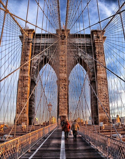 Brooklyn Bridge, Suspension Bridge, Landmark, Historic