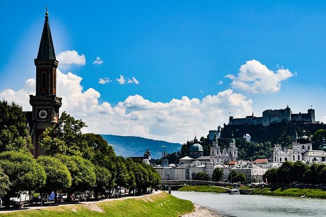Austria, Salzburg, City, Architecture, Landmark, Travel