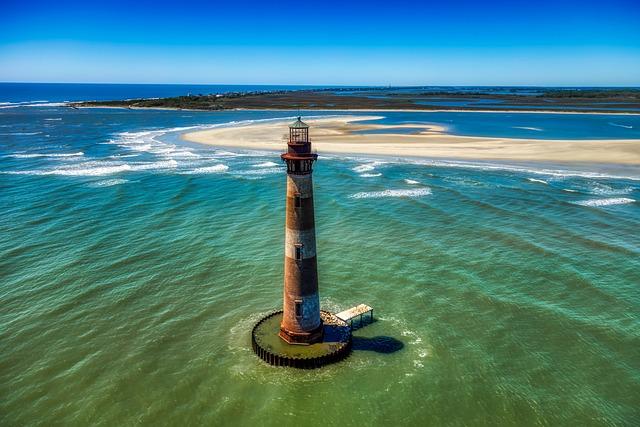 Morris Island, Lighthouse, Landmark, Historic, Tourism