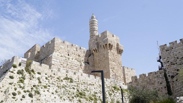 Jerusalem, Israel, Fortress, Davi, Landmark, Culture