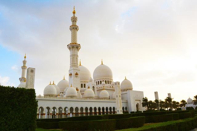 Mosque, Grand Mosque, Abu Dhabi, Religious, Landmark