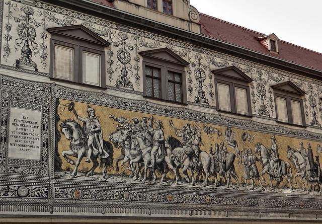 Princes, Part Of The Art Work, Dresden, Landmark