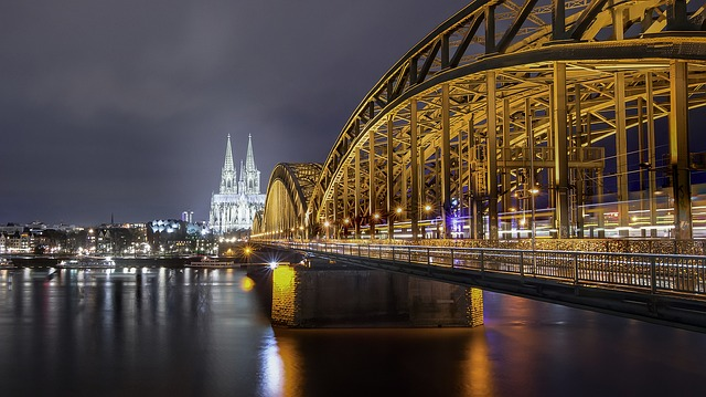 Cologne, Rhine, Hohenzollern Bridge, Landmark