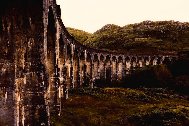 Viaduct, Structure, Landmark, Historic, Scotland