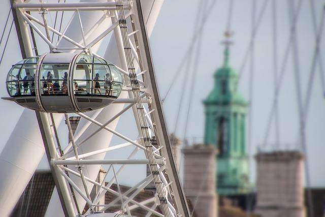London, Britain, London Eye, Sky, Landmark