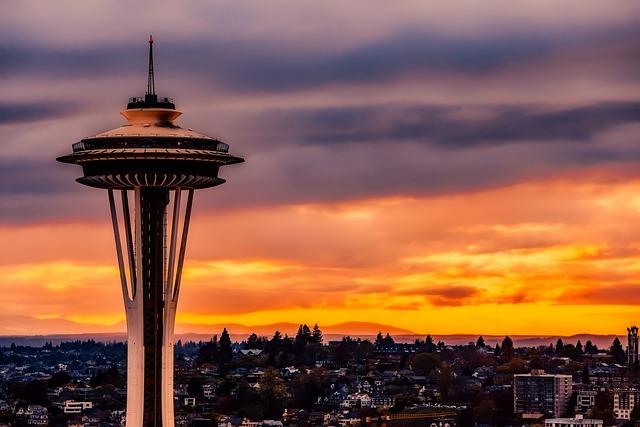 Seattle, Washington, Space Needle, Landmark, Historic