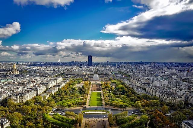 Paris, France, City, Urban, Sky, Clouds, Landmarks