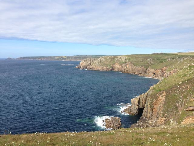 England, Lands End, Land's End, Cornwall, Sea, Rock