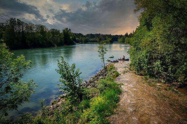 River, Lech, Landsberg, Bavaria, Nature, Landscape