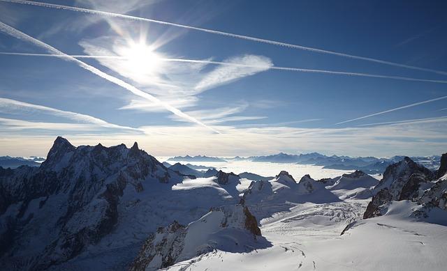 Chamonix, Aiguille Du Midi, Landscape, Alps, Blue Sky