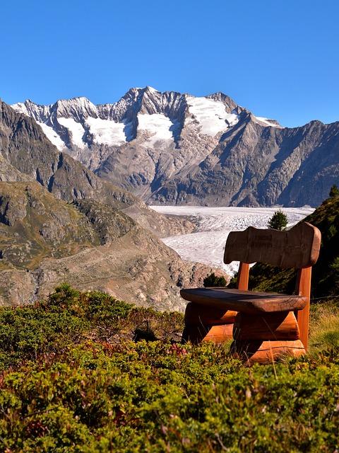 Aletsch Glacier, Bank, Landscape, Nature Reserve