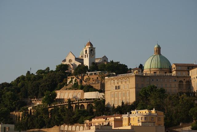 Italy, Ancona, Landscape, Hill, Church, The Basilica