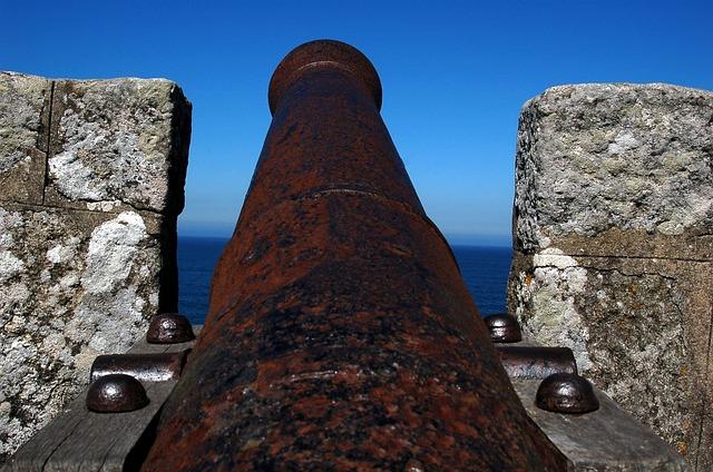 Baiona, Galicia, Sea, Castle, Canon, Landscape, Shoot
