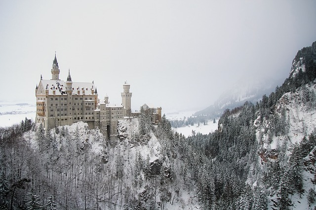 Neuschwanstein, Germany, Castle, Bavaria, Landscape
