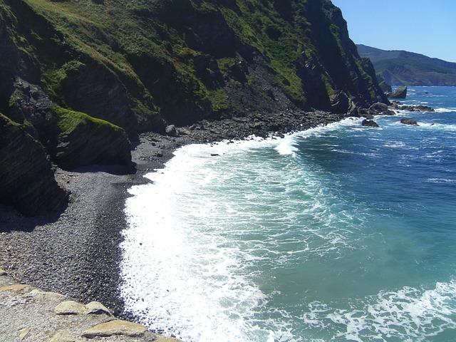 Sea, Landscape, Bilbao, Gaztelugatze, Beach, Peaceful