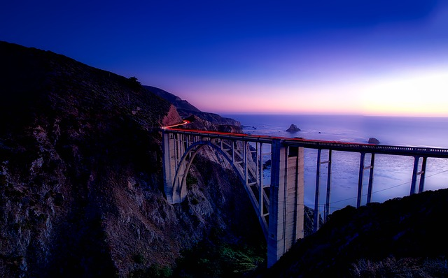 Big Sur, California, Landscape, Mountains, Sunset, Dusk