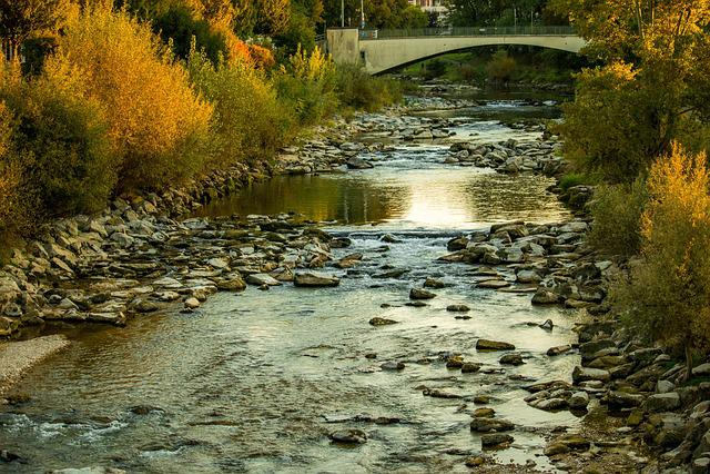 River, Autumn, Birs, Water, Nature, Landscape, Bank
