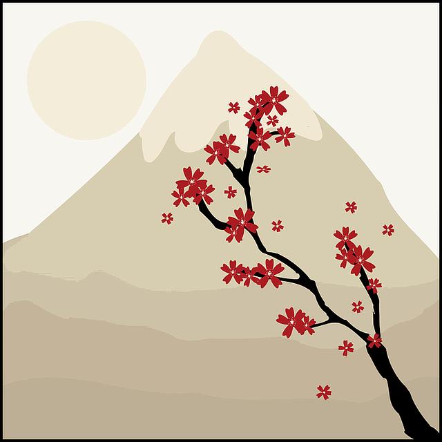 Art, Blossoms, Floral, Flowers, Japanese, Landscape