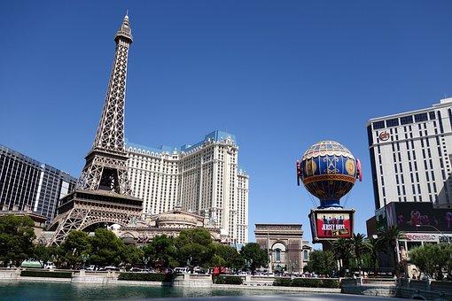 Las Vegas, The Beach Tower, Landscape, Blue Day