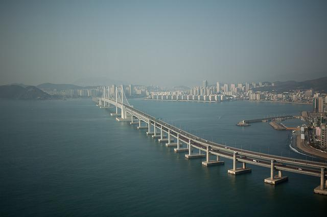 Bridge, Landscape, Busan, Gwangan Bridge, Sea