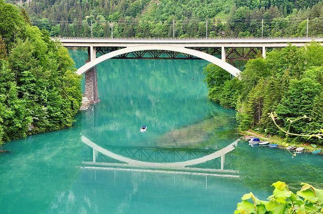 Landscape, Nature, River, Bridge, Railway Bridge, Water