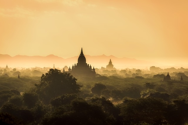 Myanmar, Burma, Landscape, Sunrise, Morning, Haze, Mist