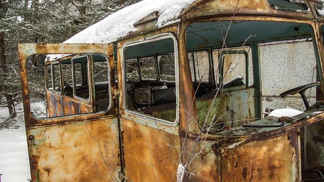 Bus, Snow, Exclusion Zone, Winter, Nature, Landscape