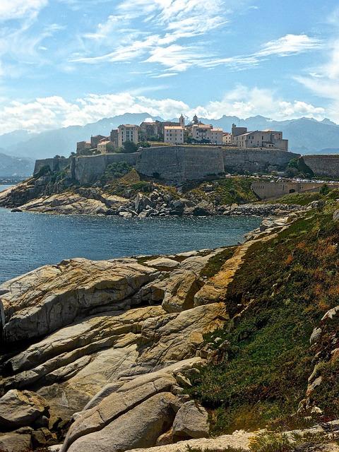 Calvi, Citadel, Seascape, Corsica, Fortress, Landscape