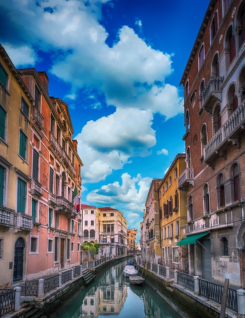 Architecture, Buildings, Canal, Water, Landscape, Old