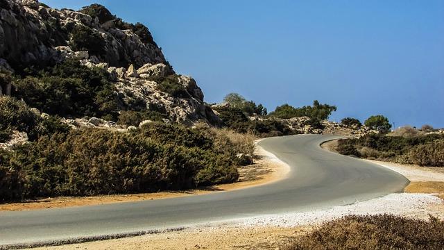 Road, Curve, Landscape, Scenery, Cavo Greko