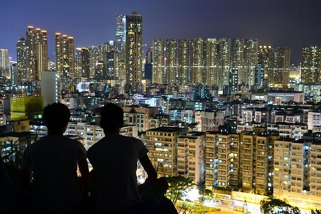 Urban, Moon, City, Skyline, Landscape, Cityscape