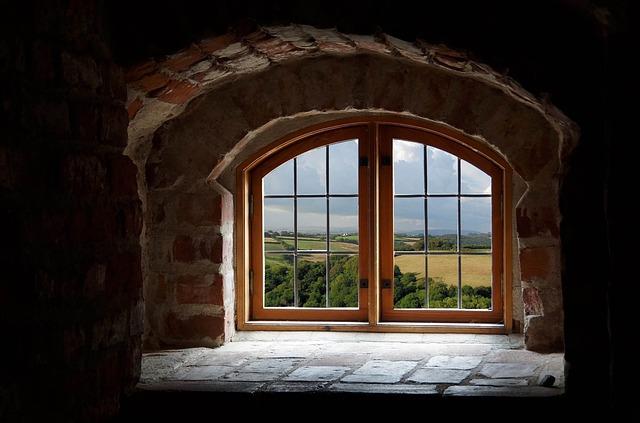 Window, Recess, Clouds, Landscape, Recession, White