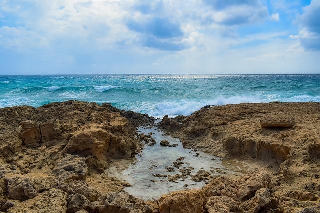 Landscape, Nature, Sky, Clouds, Sea, Waves, Smashing