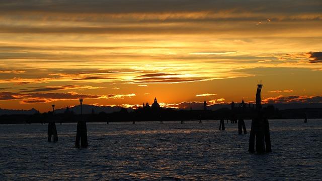 Lido, Venice, Clouds, In The Evening, Sunset, Landscape