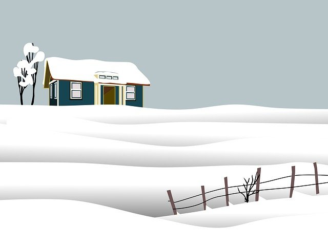 Snow, Home, Winter, Cold, Countryside, Landscape