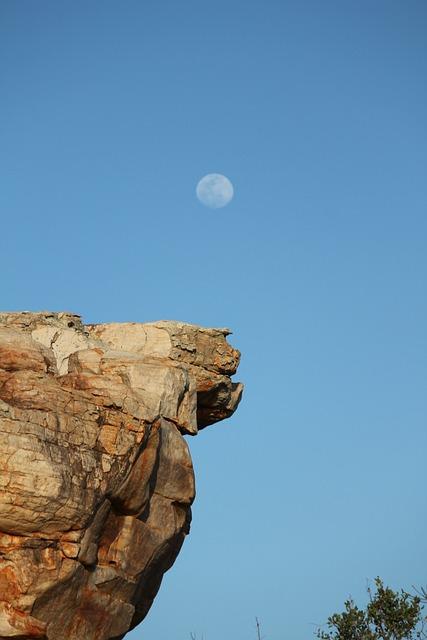 Nature, Moon, Outback, Landscape, Rock, Daylight