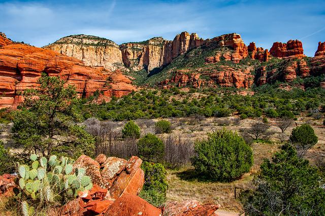 Arizona, Canyon, Landscape, Scenic, Desert, Brush