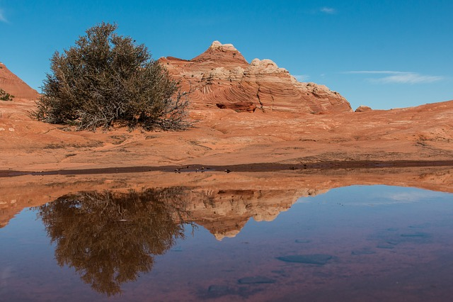 Desert, Rock, Sandstone, Landscape, Sky