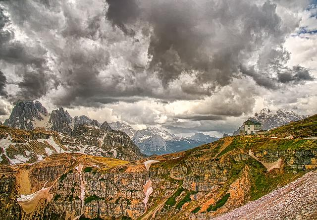 Three Zinnen, Dolomites, Landscape, Mountains, Italy